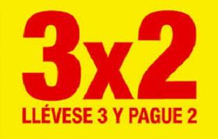 AHORRANDO CON OFERTAS 3 X 2 Y DESCUENTOS EN 2º UNIDAD
