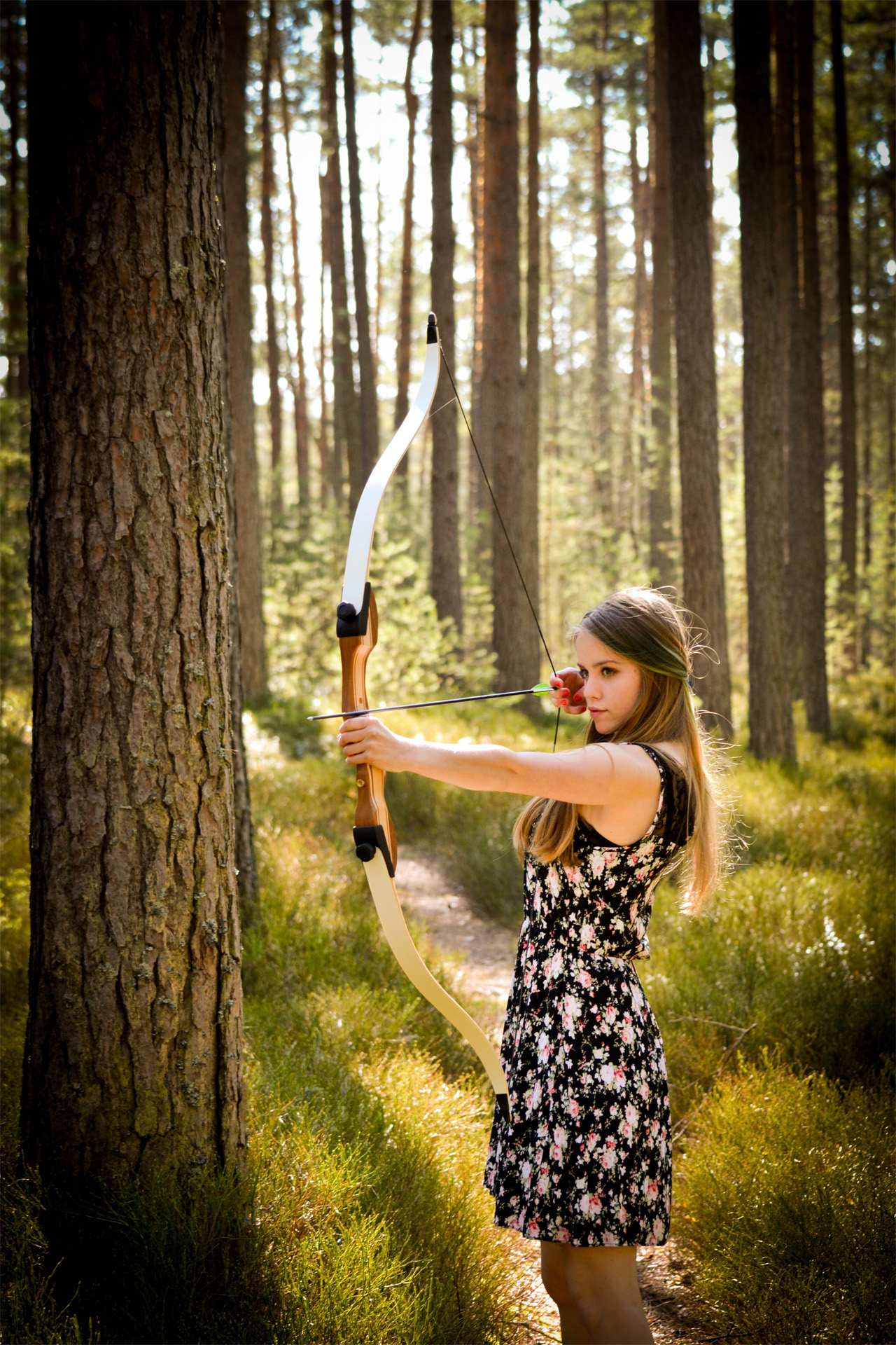 She made record on long distance archery