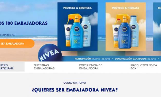 CAMPAÑA NIVEA EMBAJADORAS PROTECCIÓN SOLAR