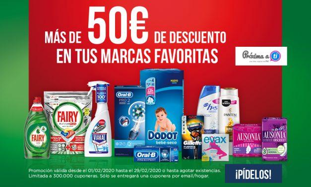 MÁS DE 50€ EN CUPONES P&G